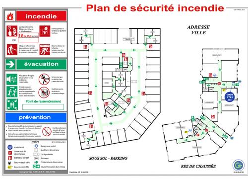Photo Plan d'Evacuation ou Intervention